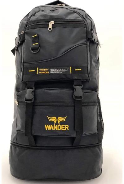 Wander Körüklü Dağcı Siyah Sırt Çantası