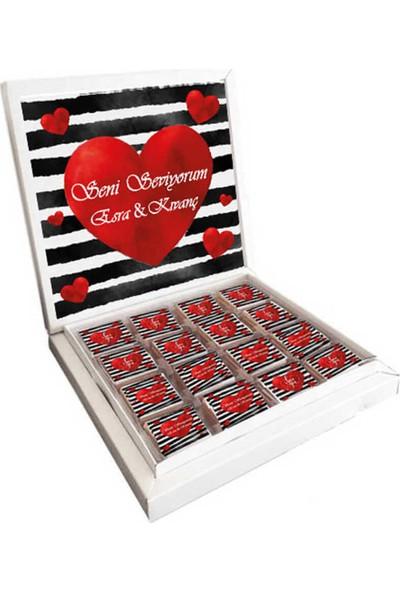 Gondol Çikolata İsme Özel Seni Seviyorum Sevgiliye Çikolata 48'li