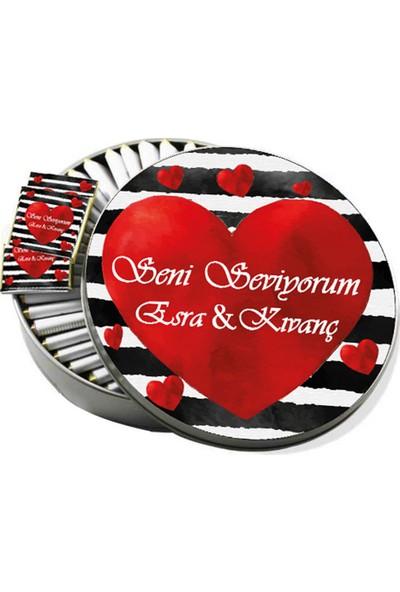 Gondol Çikolata Metal Kutuda Seni Seviyorum Sevgiliye Çikolata 32'li