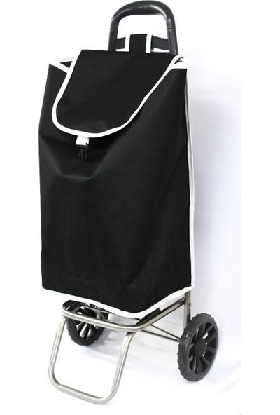 Pazar Arabası Siyah Renk 90 Cm