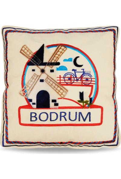 Bodrum Tafting Nakışlı Dekoratif Yastık Kılıfı