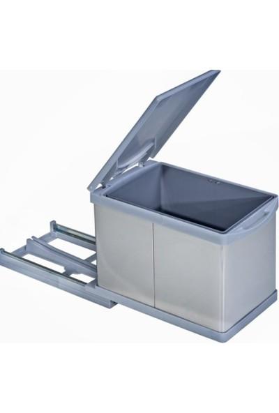 Pelikan 21750 Raylı Dolap İçi Çöp Kovası 12 Lt - Mutfak Çöp Kovası