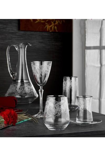 Carat 31 Parça Bardak Seti Gümüş Yaldızlı