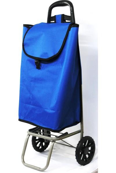 Pazar Arabası Mavi Renk 90 Cm