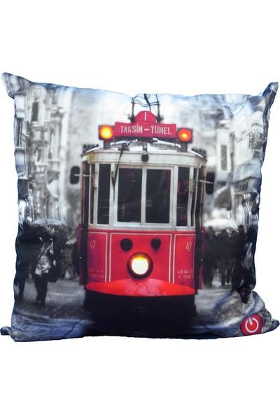 Taksim Led Işıklı Yastık
