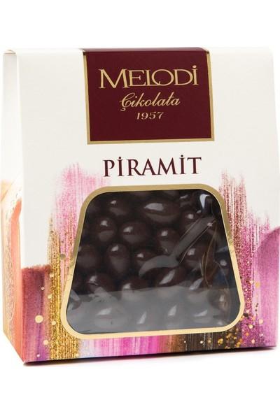Melodi Çikolata Bitter Çikolatalı Fıstık Draje - 250gr