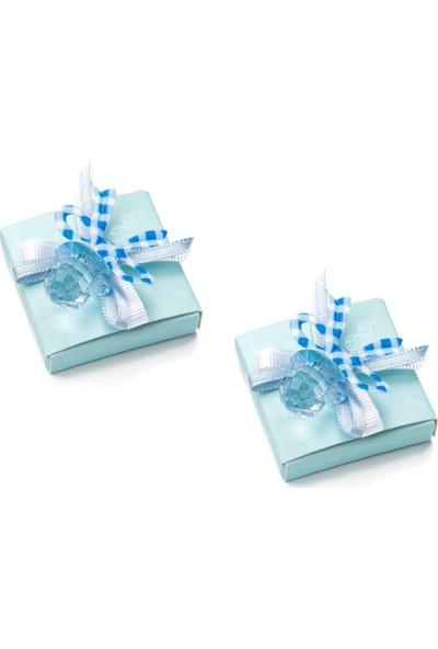 Melodi Çikolata Dekorlu Emzik Mavi 400gr - Erkek Bebek Çikolatası
