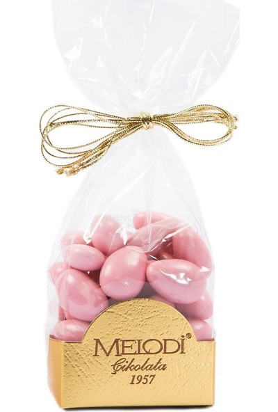 Melodi Çikolata Pembe Renkli Badem Şekeri 150 gr