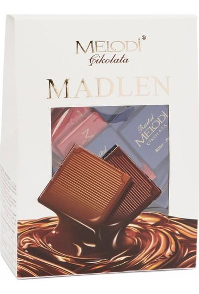 Melodi Çikolata Piramit Kutu Madlen Çikolata 400 gr