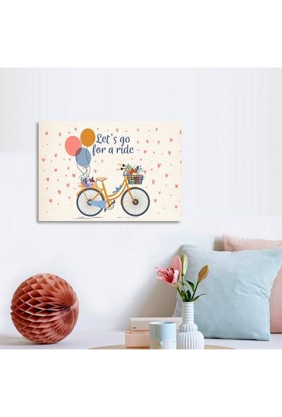 Vetro Design Bisiklet ve Balonlar 20 x 30 cm Mdf Tablo