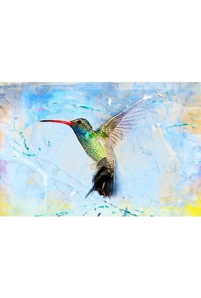 Görsel Tasarım Kuş %100 Pamuk Kanvas Tablo