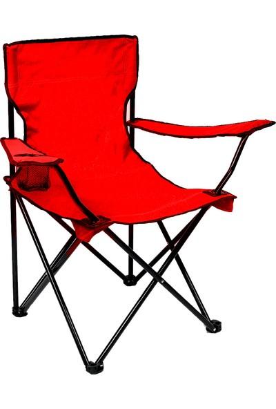 Granit Venedik Katlanır Kamp Sandalyesi 4 Adet Kırmızı Y579