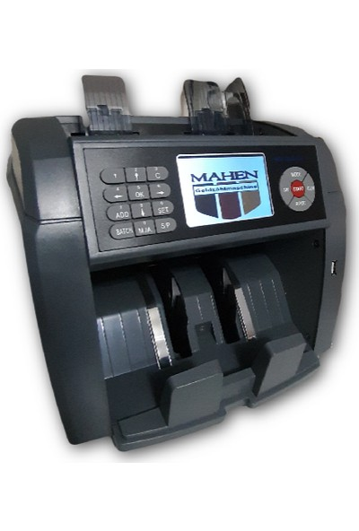 Mahen S3 Para Sayma Makinesi 20 Ülke Otomatik Tanıma Sahte Tespit