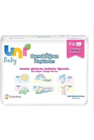 Uni Baby Oyna&Öğren Islak Mendil 3X52 Adet