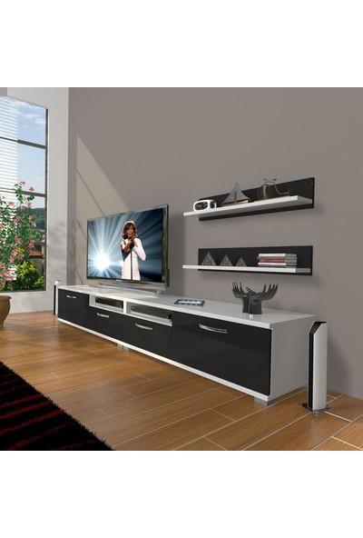 Decoraktiv Eko 220R Mdf Tv Ünitesi Tv Sehpası Beyaz Siyah