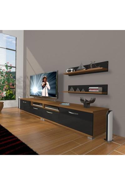 Decoraktiv Eko 220R Slm Tv Ünitesi Tv Sehpası Ceviz Siyah