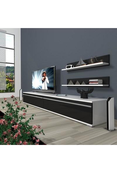 Decoraktiv Eko 4 Mdf Std Tv Ünitesi Tv Sehpası Beyaz Siyah
