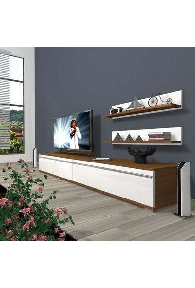 Decoraktiv Eko 4 Mdf Std Tv Ünitesi Tv Sehpası Ceviz Beyaz