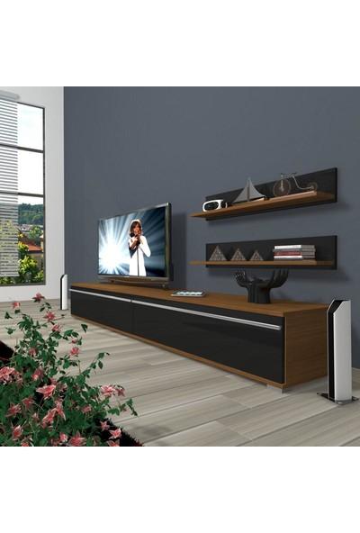 Decoraktiv Eko 4 Mdf Std Tv Ünitesi Tv Sehpası Ceviz Siyah