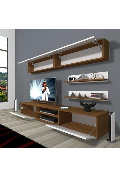 Decoraktiv Eko 5 Mdf Dvd Tv Ünitesi Tv Sehpası Ceviz Beyaz