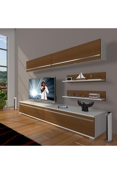 Decoraktiv Eko 5 Mdf Std Tv Ünitesi Tv Sehpası Beyaz Ceviz