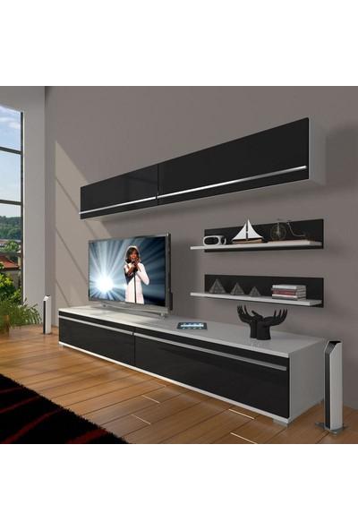 Decoraktiv Eko 5 Mdf Std Tv Ünitesi Tv Sehpası Beyaz Siyah