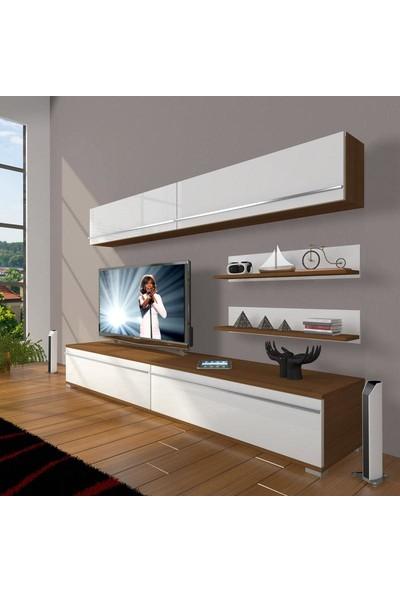 Decoraktiv Eko 5 Mdf Std Tv Ünitesi Tv Sehpası Ceviz Beyaz