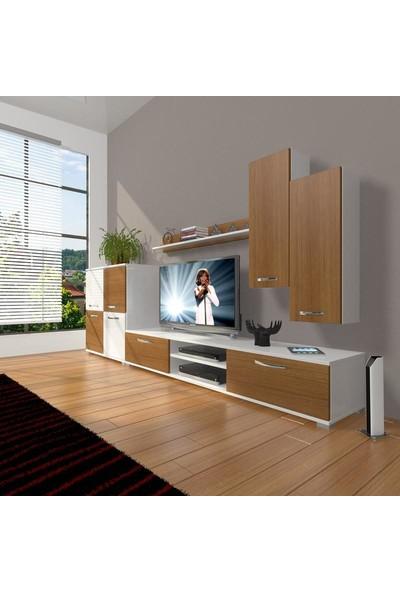 Decoraktiv Eko 6 Mdf Dvd Tv Ünitesi Tv Sehpası Beyaz Ceviz