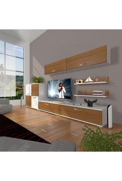 Decoraktiv Eko 6Y Slm Std Tv Ünitesi Tv Sehpası Beyaz Ceviz