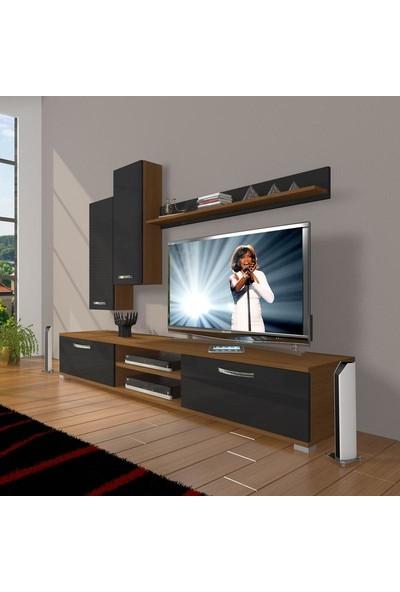 Decoraktiv Eko 7 Mdf Dvd Tv Ünitesi Tv Sehpası Ceviz Siyah