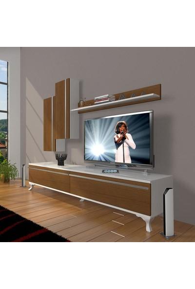 Decoraktiv Eko 7 Mdf Std Rustik Tv Ünitesi Tv Sehpası Beyaz Ceviz