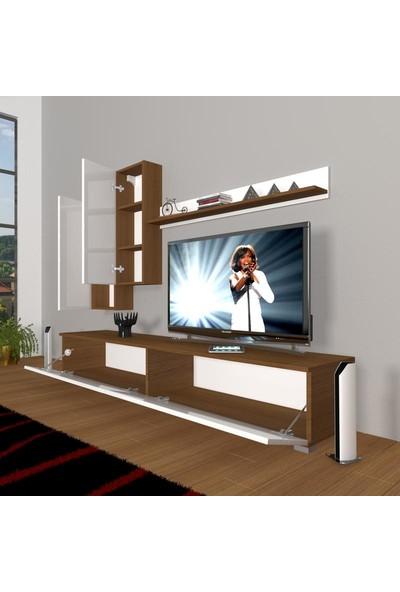 Decoraktiv Eko 7 Mdf Std Tv Ünitesi Tv Sehpası Parlak Beyaz