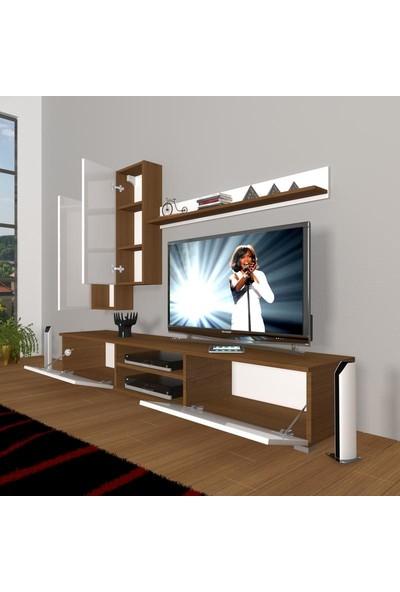 Decoraktiv Eko 7 Slm Dvd Tv Ünitesi Tv Sehpası Beyaz Ceviz