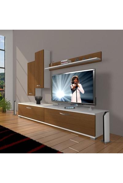 Decoraktiv Eko 7 Slm Std Tv Ünitesi Tv Sehpası Beyaz Ceviz