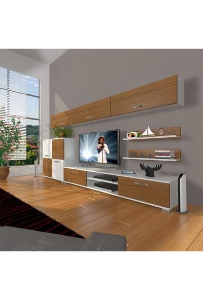 Decoraktiv Eko 8 Mdf Dvd Tv Ünitesi Tv Sehpası Beyaz Ceviz