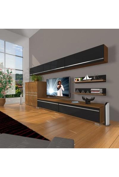 Decoraktiv Eko 8 Mdf Std Tv Ünitesi Tv Sehpası Ceviz Siyah