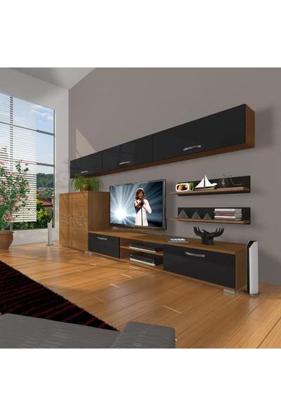 Decoraktiv Eko 8 Slm Dvd Tv Ünitesi Tv Sehpası Ceviz Siyah