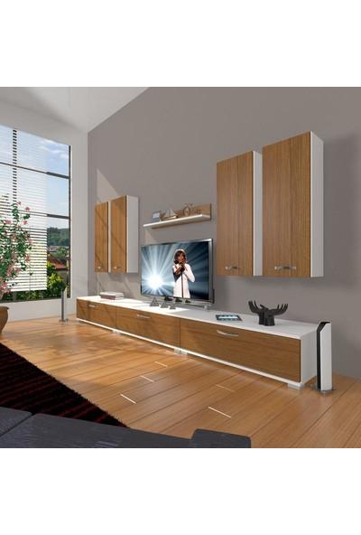 Decoraktiv Eko 8D Slm Tv Ünitesi Tv Sehpası Beyaz Ceviz
