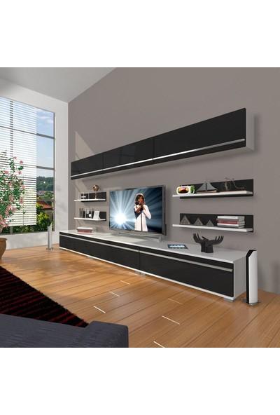 Decoraktiv Eko 8Y Mdf Tv Ünitesi Tv Sehpası Beyaz Siyah