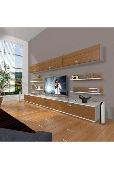 Decoraktiv Eko 8Y Slm Tv Ünitesi Tv Sehpası Beyaz Ceviz