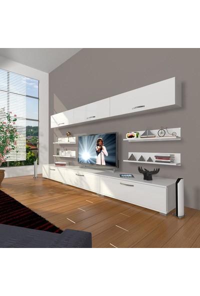 Decoraktiv Eko 8Y Slm Tv Ünitesi Tv Sehpası Parlak Beyaz