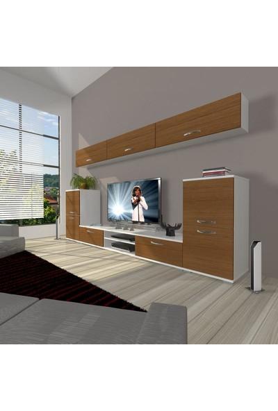 Decoraktiv Eko 9 Slm Dvd Tv Ünitesi Tv Sehpası Beyaz Ceviz