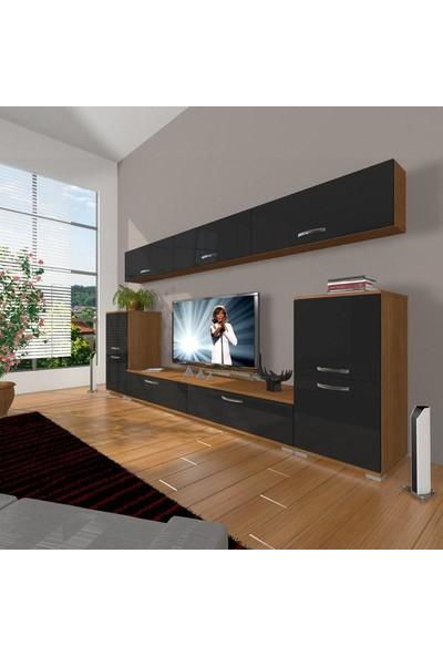 Decoraktiv Eko 9 Slm Std Tv Ünitesi Tv Sehpası Ceviz Siyah
