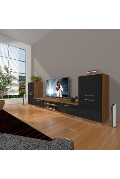 Decoraktiv Eko On2 Mdf Dvd Tv Ünitesi Tv Sehpası Ceviz Siyah