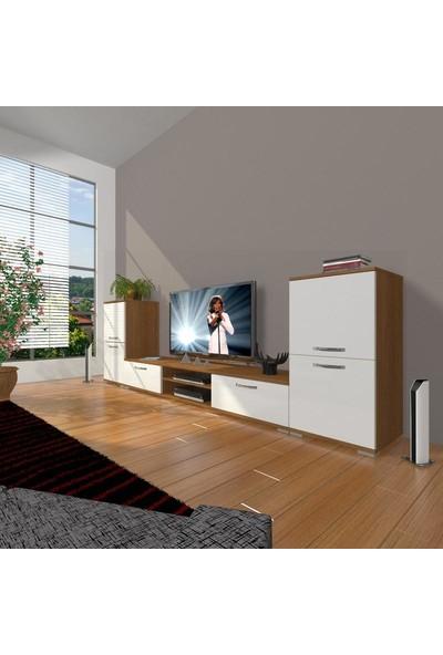 Decoraktiv Eko On2 Slm Dvd Tv Ünitesi Tv Sehpası Ceviz Beyaz