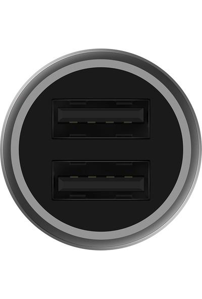 Xiaomi Hızlı Araç Şarj Cihazı Çift Giriş USB Qualcomm 3.0 - 18W