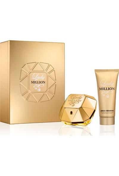 Lady Million 80 ml EDP Kadın Parfüm +100 ml Vücut Losyonu Set