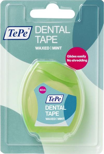 Tepe Diş İpi Mumlu Naneli Dental Tape Waxed Mint 40 m