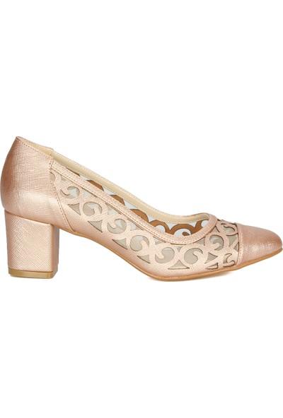 Rovigo Plus Gold Baskılı Kadın Klasik Ayakkabı