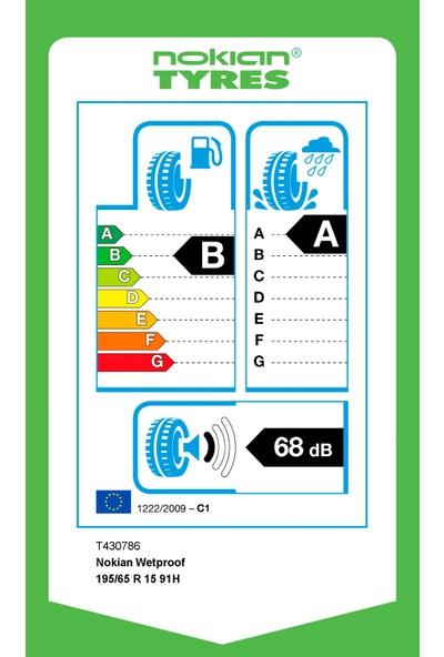 Nokian 195/65 R15 91H Wetproof Yaz Lastiği (Üretim Yılı: 2020)
